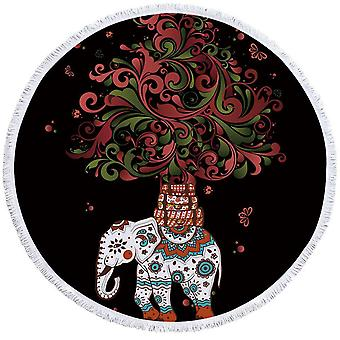Red and Green Ornaments Indian Elephant Beach Towel