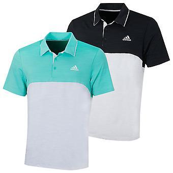 Adidas Golf Herre Ultimate365 Heather bryst logo stretch Polo skjorte