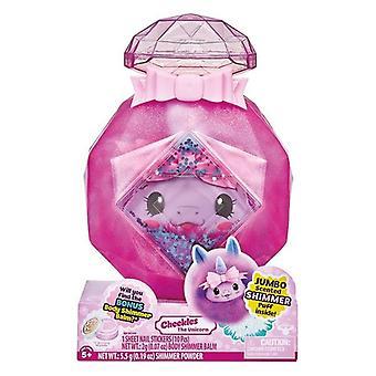 Pikmi Pops Cheeki Puffs Jumbo Plush - Cheekles the Unicorn