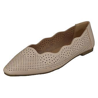 Ladies slip på ballerina flade sko F80459