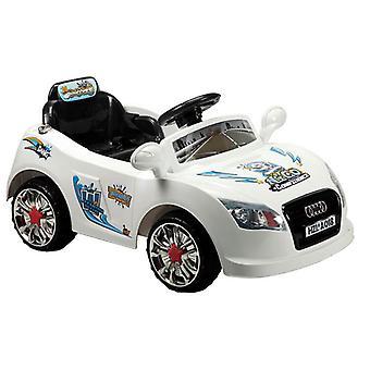Electric lasten auto A018 kauko-ohjaimilla 6V, yksi paikkainen valo ja musiikki