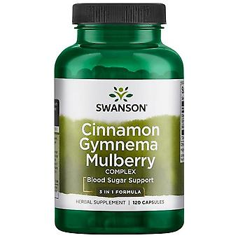 Swanson Mulberry, Cinnamon and Gymnema Complex 120 Capsules