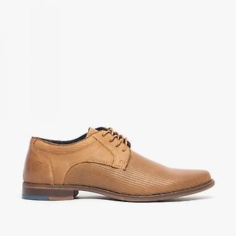Avant Duke Mens Textured Chaussures Derby En cuir Tan