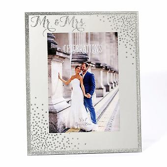 Celebrações Widdop Bingham Sparkle Mr & Mrs Engagement 5 X 7 Wedding Photo Frame