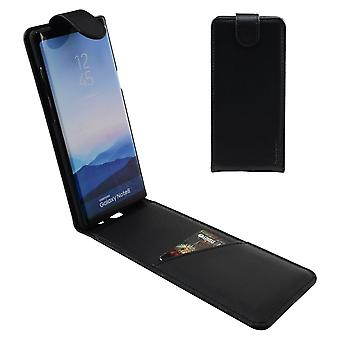 For Samsung Galaxy Note 8 Case,iCL Vertical Flip Genuine Leather Cover,Black