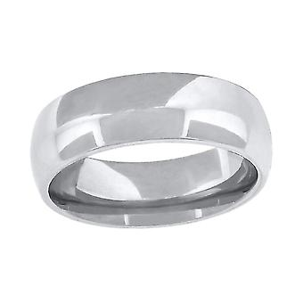 10k White Gold Mens Wedding Band Comfort Fit 6mm Jewelry Gifts for Men - Ring Size: 6 to 13