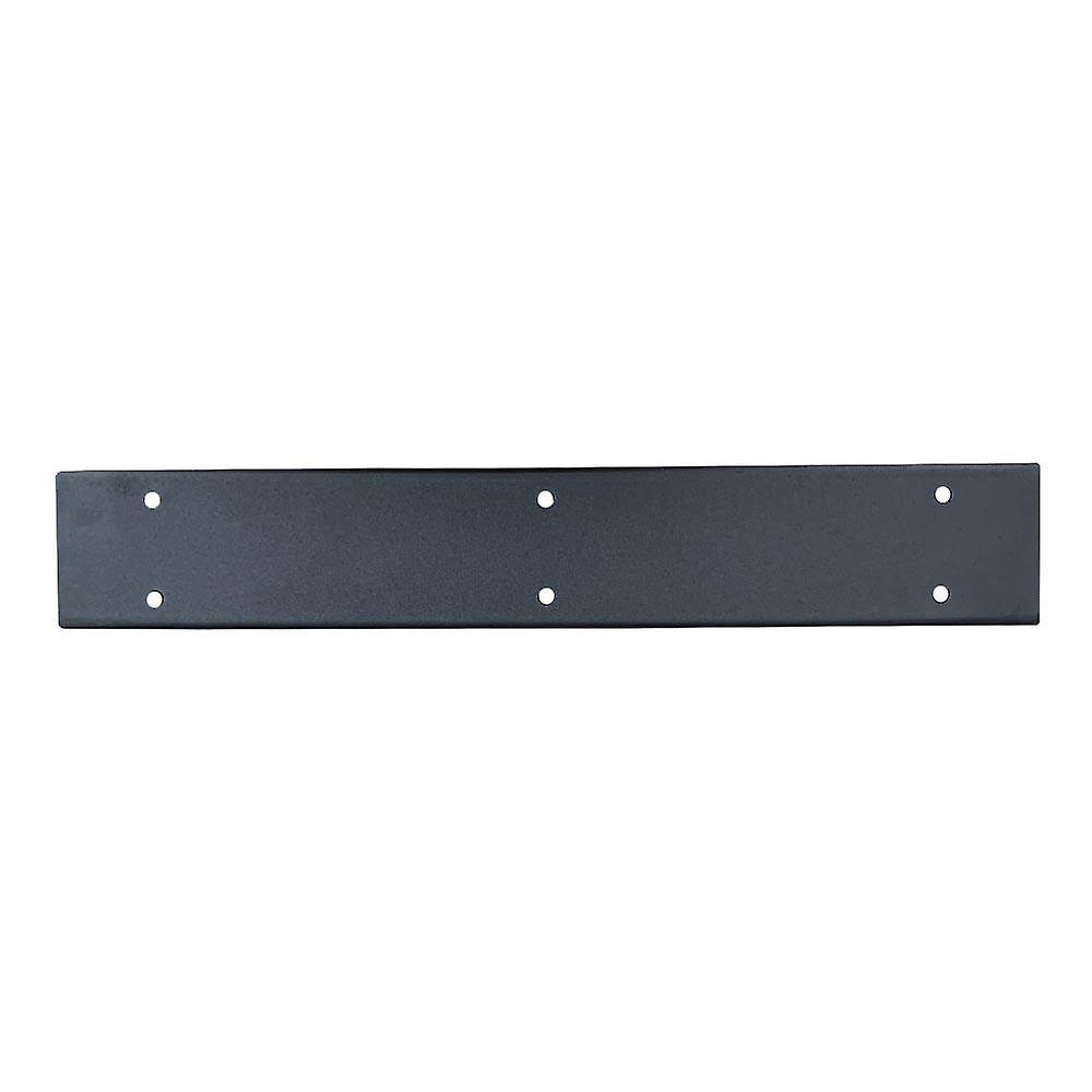 Jambe de table trapézoïde noire 72 cm (tube 10 x 4)