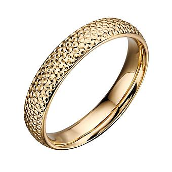Joshua James Precious 9ct Yellow Gold Textured Ring