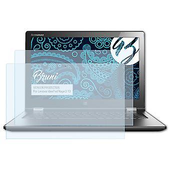 Bruni 2x Screen Protector kompatibel med Lenovo IdeaPad Yoga 2 13 Beskyttende Film