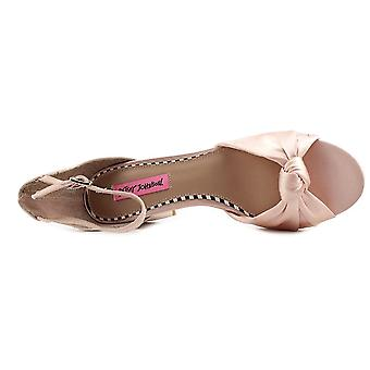 Betsey Johnson Womens Ivee Fabric Open Toe Casual Ankle Strap Sandals