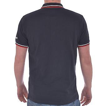 Lambretta Mens Target Tip Casual Logo Collar Buttoned Polo Shirt Tee Top