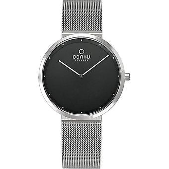OBAKU - Wristwatch - UNISEX - V230LXCBMC - PAPIR LILLE ONYX