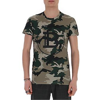 Balmain Th11601i2667ua Men's Camouflage Cotton T-shirt