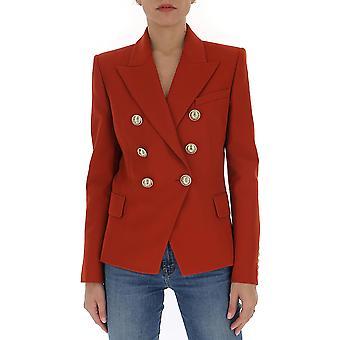 Balmain Tf17110v0932ub Women's Red Cotton Blazer