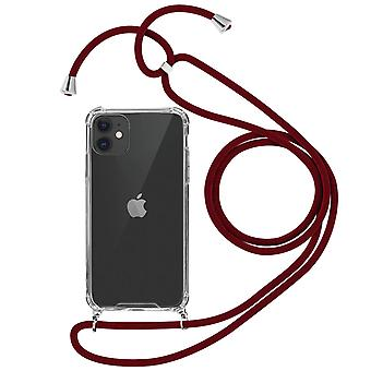Braided Nylon Lanyard Phone Case for Apple iPhone 11 - Forcell, Red