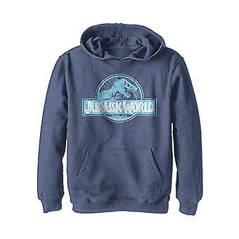 Jurassic World Boys' Hooded Sweatshirt, Navy Heather, Medium
