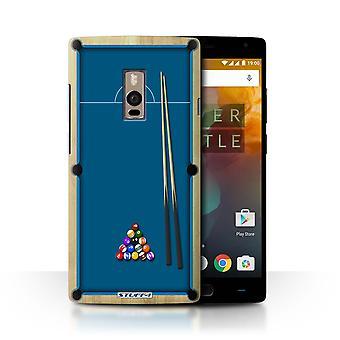 STUFF4 Case/Cover voor OnePlus 2/twee/zwembad/Biljart blauw/Games