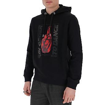 Les Hommes Lih407753p9000 Men's Black Cotton Sweatshirt
