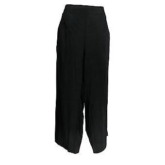 Anybody Women's Petite Pants Cozy Knit Wide-Leg Pants Black A347173