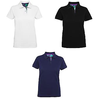 Asquith & Fox Damen/Damen Karohemd Trim Polo