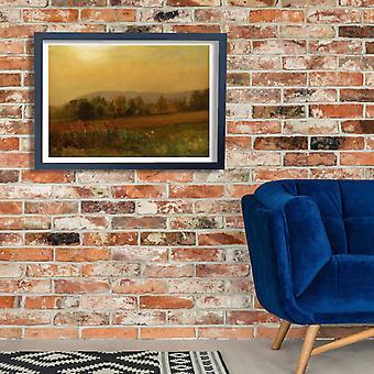Albert Bierstadt - Autumn Landscape Poster Print Giclee