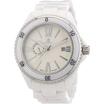 CAPA Watches CA7112WH-men's wristwatch, ceramics, color: white