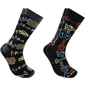 Friends TV Show 2-Pack Men Crew Socks