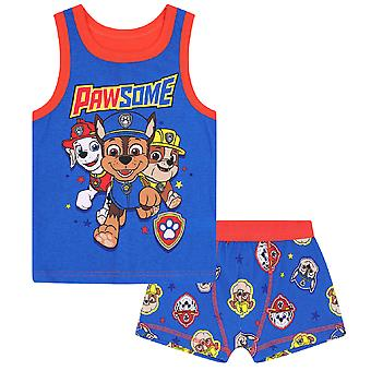 PAW Patrol Official Gift Boys Boxer Shorts & Vest Set