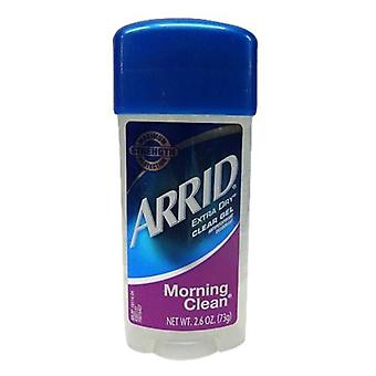 Arrid extra dry deodorant, clear gel, morning clean, 2.6 oz