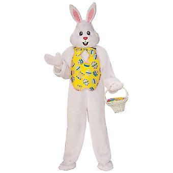 Easter Bunny Mascot Rabbit Hare Animal Deluxe Plush Adult Mens Costume Plus