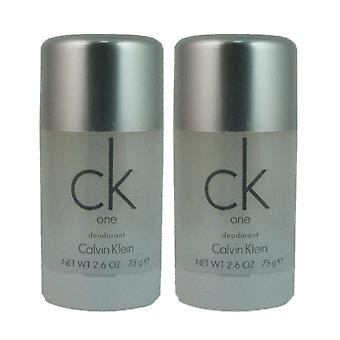 Ck one by calvin klein unisex 2.6 oz deodorant stick (two)