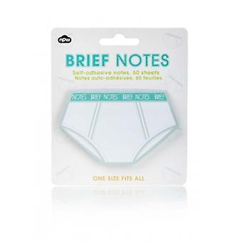 NPW Brief Novelty Sticky Notes Set | Gifts Handpicked