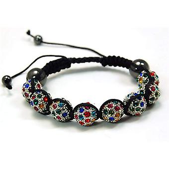 Multicolour Rhinestone Disco Ball Adjustable Bracelet by The Olivia Collection