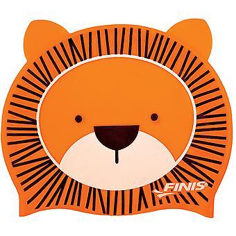 FINIS Kids Animal Heads Silicone Swim Cap - Lion