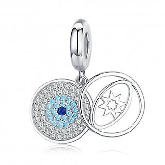 Sterling Silver Pendant Charm The Lucky Eye - 6371