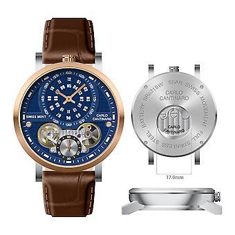 Carlo Cantinaro CC1004GL011 Men's Watch Quartzmatic GMT
