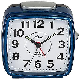 Atlanta 1561/5 herätyskello kvartsi analoginen sininen tumman sininen suorakulmainen neliö valolla