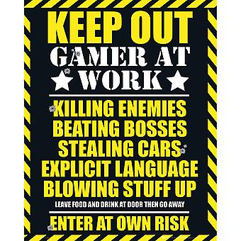 Gaming Keep Out Gamer yrityksessä Work Mini Poster