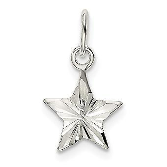 925 sterling sølv stjerne sjarm anheng halskjede smykker gaver til kvinner - 0,4 gram