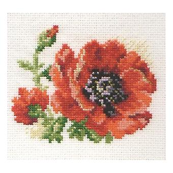 Alisa Cross Stitch Kit - Poppy