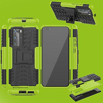 For Huawei P40 Pro Hybrid Case 2-piece Outdoor Green Case Sleeve Cover Protection
