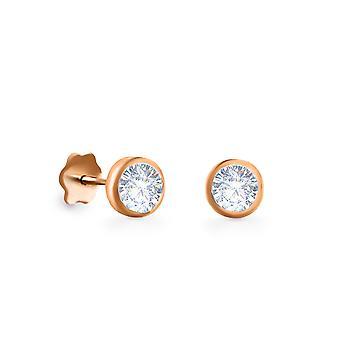 Kolczyki Stud Solitaire Diamond i 18K Gold (single piece)