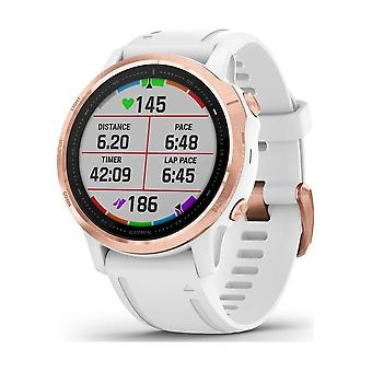 Garmin - SmartWatch - - fenix 6S PRO White Rose gold Silicone Bracelet 20mm White