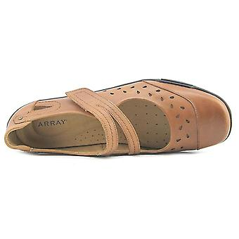 ARRAY Womens Breeze Leather Closed Toe Ankle Strap Mary Jane Flats
