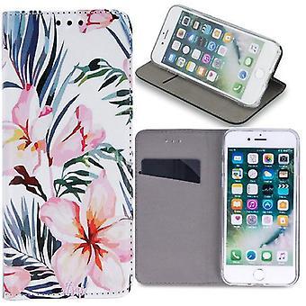 Samsung Galaxy A40 - Smart Trendy Mobilplånbok - Blossom