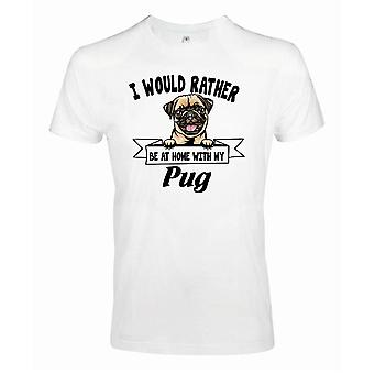 Mops Mops Squinting Hund T-Shirt - eher mit...