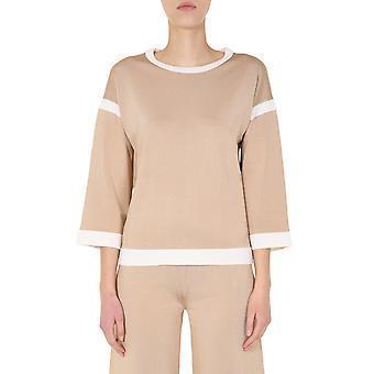 Boutique Moschino 092511031018 Dames's Beige Viscose Sweater