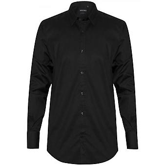 Antony Morato Plain Black 'Super Slim' Camicia Fit