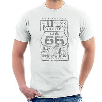 Route 66 Mother Road Patriot Flag Men's T-Shirt