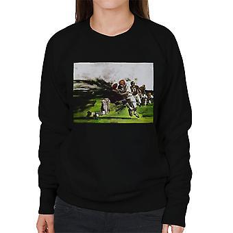 De Saturday Evening Post American Football Tackle Women's Sweatshirt